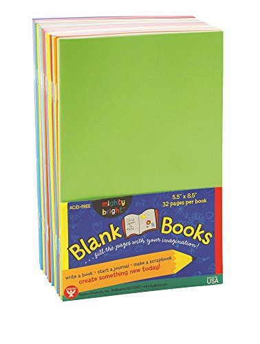 (Hygloss Products Colorful Paperback Blank Books - Sketch, Writing, Journaling, Coloring Book for Children and Adults - 5.5