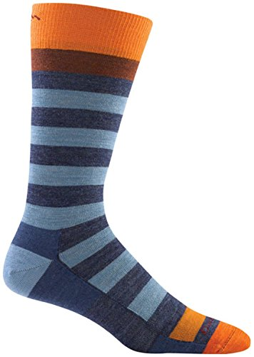 Darn Tough Merino Wool Warlock Crew Light Socks - Men's Denim/Vapor Medium