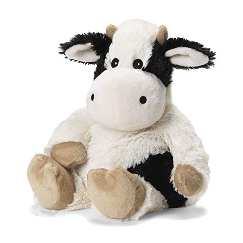 Intelex Warmies Microwavable French Lavender Scented Plush, Black & White Cow Warmies (Black Stuffed Cow)