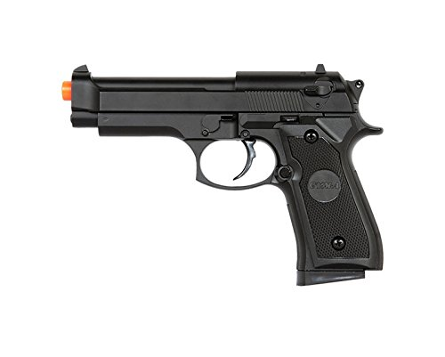 UK Arms P818 M9 Beretta Full Metal Body Spring Airsoft Pistol (Jacketed Handgun Bullets)