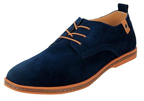 4HOW Klassich (Classic) Herren Cow Suede Leather Dark Blue