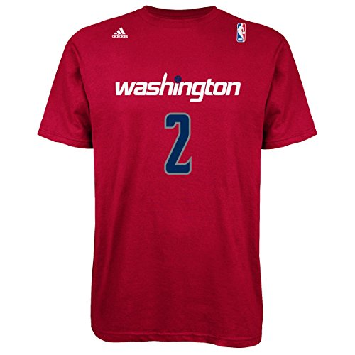 NBA Washington Wizards John Wall #2 Men's 7 Series Name & Number Short Sleeve Tee, XX-Large, Red