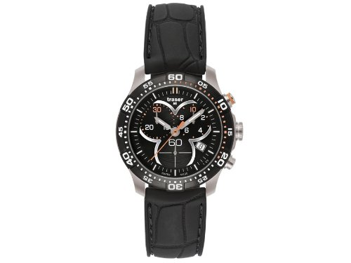 Traser H3 Ladytime Black Chronograph Ladies Watch T7392.8AH.G1A.01 / 100314