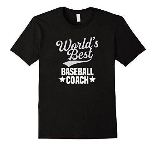 Mens World's Best Baseball Coach Thank You Gift T shirt  XL Black Thank You Baseball Coach