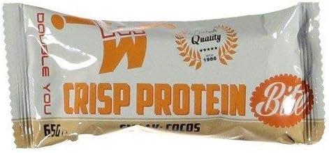 M Double You Crisp Protein Bite Protein Riegel - Geschmacksrichtung Kokos - 10 Stück Eiweissriegel - Beste Proteinriegel für Sportler - Protein Bites für höhere Fitness