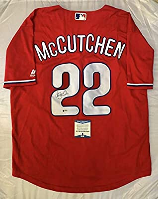 huge selection of 03228 c1bc8 Andrew Mccutchen Autographed Signed Memorabilia Philadelphia ...