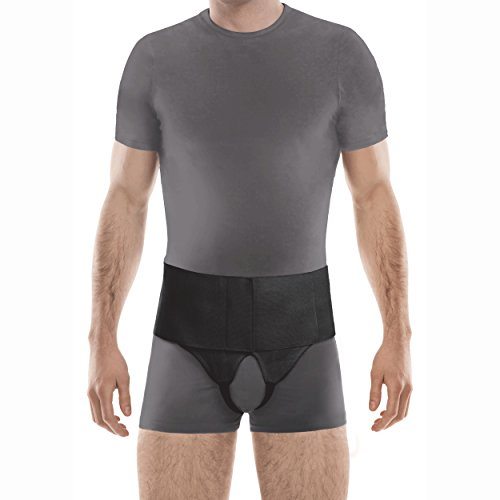 "TOROS-GROUP Double Inguinal Groin Hernia Belt - Small, Hips 38½"" - 42½"" Black"
