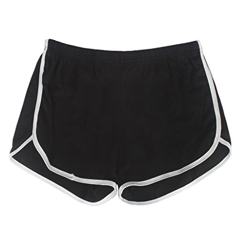 Yoga Gym Sport Shorts Workout Running Short Pants for Women No Drawstring Solid Color Dolphin -