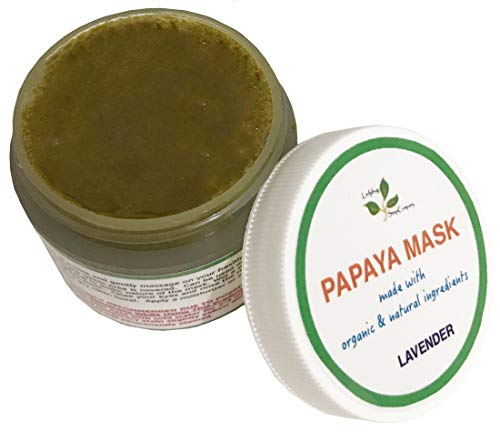 All Natural Papaya Turmeric Skin Lightening Mask with Lavender Essential oil (2.5 oz)