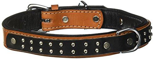 Woofwerks Wyatt Overlay Collar, 1 by 20-Inch, Tan/Black