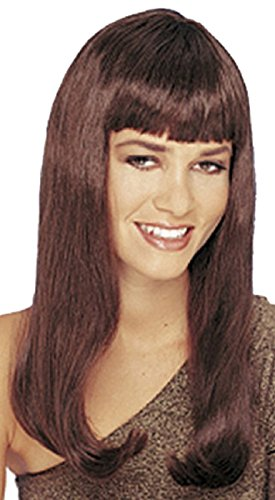 Mistress Wig w/ Bangs (Brown) Adult Halloween Costume Accessory