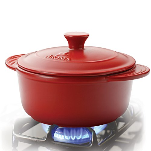 Aroma Housewares  Doveware Dutch Oven, 2.5 quart, Ruby Red