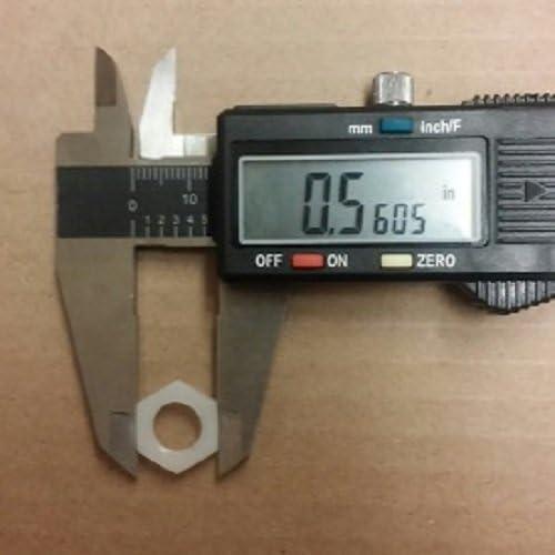 1//8 NPT Nylon Hex Jam Nut//Lock-nut 50 pcs.