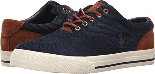 Polo Ralph Lauren Men's Vaughn Sneaker, Navy/Navy, 13 D US