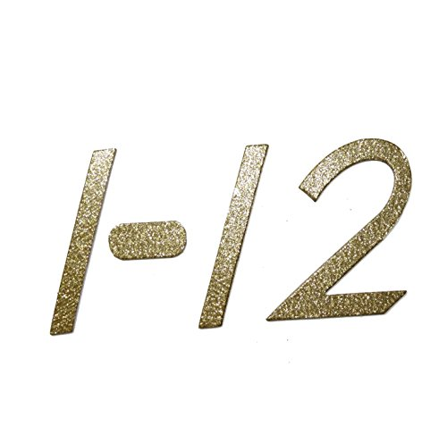 scrapbooking numbers gold - 4