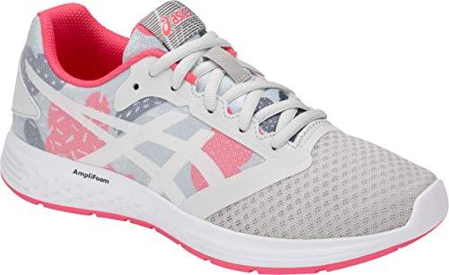 (ASICS Patriot 10 GS SP Kid's Running Shoe, Glacier Grey/Pink Cameo, 5.5 M US Big Kid)
