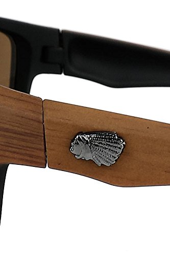 Lunettes Indian Marron marron Wooden de soleil f5q7vTwU