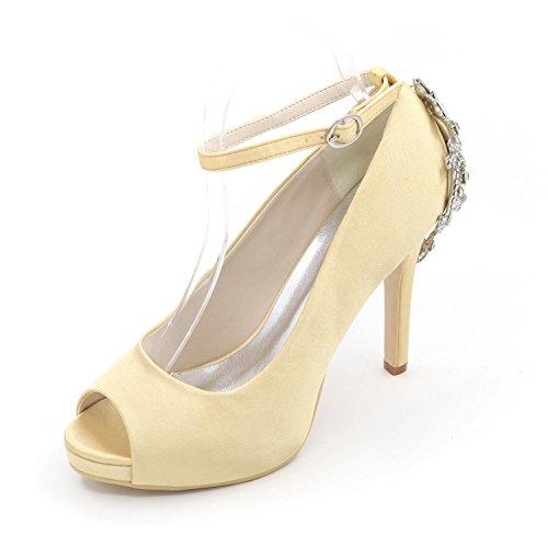 La Noche L Más Mujeres Peep Por Sandalias Y Colores Yellow Las Alto Zapatos Fiesta Boda De yc Disponibles Toe Tacón wZwr6