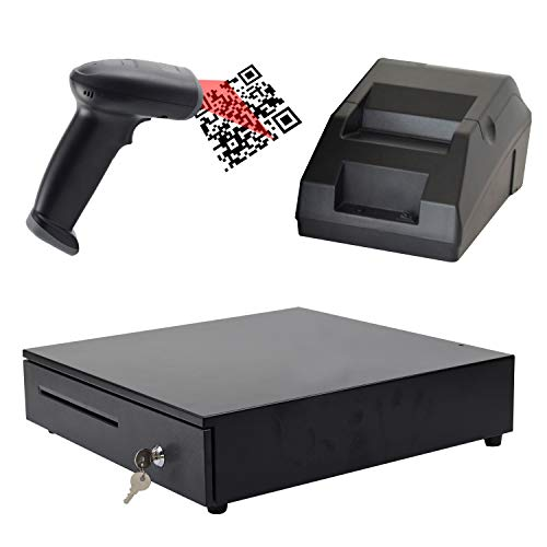 ZHONGJI DIY POS Heavy Duty Cash Register &Thermal Receipt Printer(58mm)& Barcode Scanner for Convenience Stores and Chain Stores from ZHONGJI