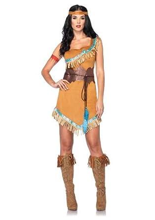 Amazon.com: Disney Leg Avenue 3Pc. Pocahontas Costume Includes Dress ...