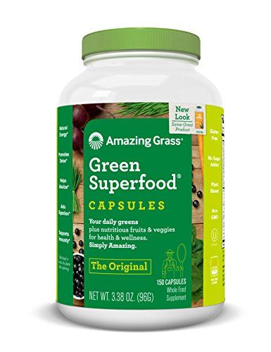 Amazing Grass Green Superfood Original, 150 capsules, 3.38 Ounces