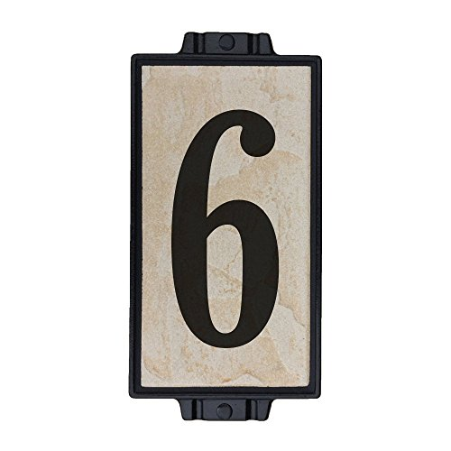 Sandy Stone Address Plaque 1 by Craftsman House Numbers