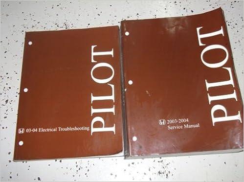 2003 2004 honda pilot service repair shop manual set w wiring book brand  new: honda: amazon com: books