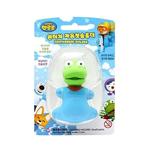 Pororo and Friends One-Touch Automatic Toothbrush Holder TV Animation Character Crong