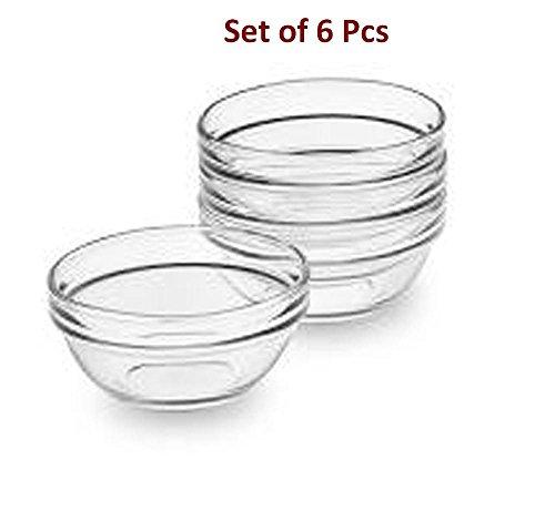 VOLTAC Glass Bowl Set , Small 6 Pieces