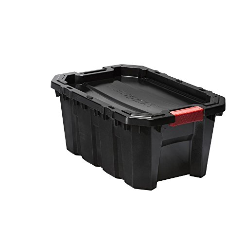Mobile Storage Containers - Husky 15 Gal. Latch and Stack Tote in Black