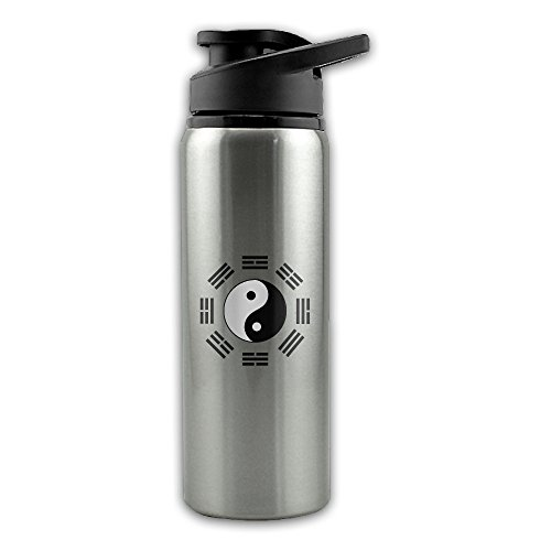 - Taiji Yinyang Diagram Stainless Steel Layer Sports Water Bottle With Wide Mouth 24oz