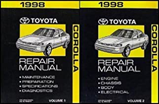 1998 toyota corolla repair shop manual set original toyota amazon rh amazon com 1998 toyota corolla repair manual pdf 1998 toyota corolla service repair manual