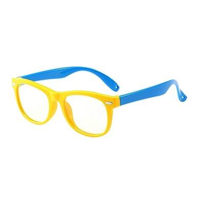 e842d5f6dd Poonkuos Niños Blue Light Filtro Gafas - UV Proteccion Computadora Teléfono  Móvil Vasos HD Lentes Lector Juego Vidrios para Kids 3-12 Años Antiguo: ...
