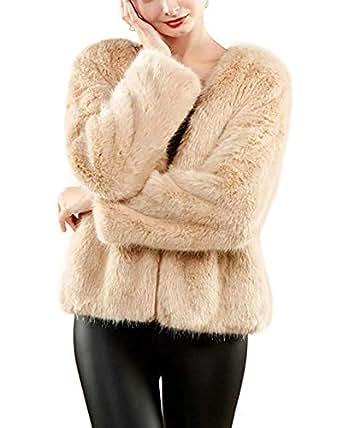PROMLINK Women Soft Faux Fur Vest Coat Winter Warm Gielet