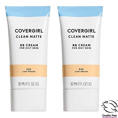 (Covergirl Clean Matte Bb Cream for Oily Skin, Light Medium 530, 1 Fl Oz, 2 Count)
