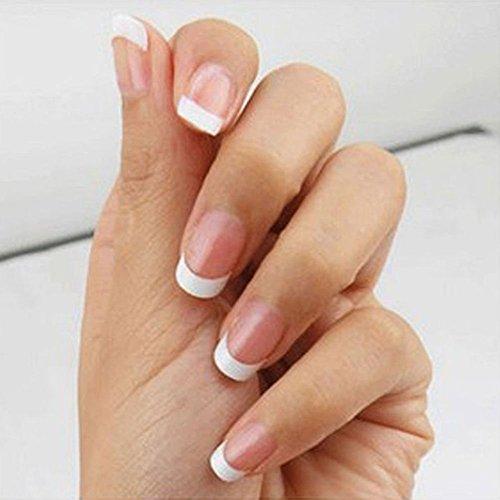 Paquete de 500 puntas postizas para uñas francesas de acrílico o gel de secado UV: Amazon.es: Belleza