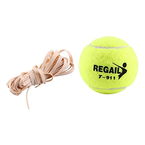 Tennis Trainer ,High Elasticity Rubber Ball and Rope Training Tennis Professional Training Accessory