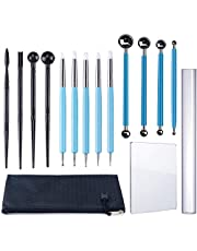 Polymer Clay Carving Tool Kit - Ball Stylus Clay Sculpting Tools, Dual-Ended Design Pottery Tools and Carrying Bag for Sculpture Pottery, Air Dry Clay