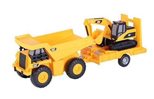 comprar nuevo barato Juguete State Light and Sound CAT Truck N' Trailer Trailer Trailer Dump Pulling Excavator Vehicle by Juguetestate  grandes ofertas