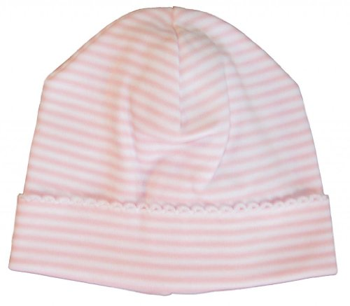 Kissy Kissy Baby Stripes Striped Hat-White With Pink-Small