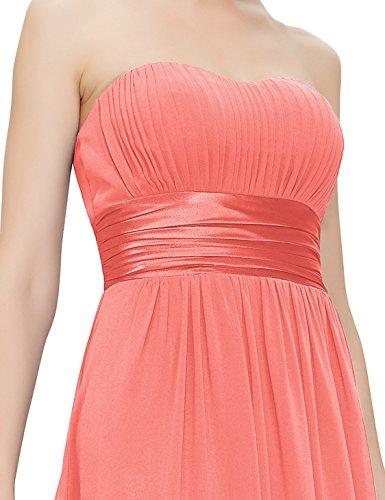 Ever Pretty Mujer Empire cintura hombro libre larga noche Ropa 09955 Korallenrot L/XL