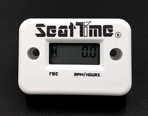 Seat Time Inductive Hour Meter/Tachometer For Dirt Bike ATV Enduro Dual Sport Motorcycle waterproof - White