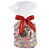 Ghirardelli Chocolate Large Milk Chocolate Peppermint Bark SQUARES Chocolates Gift Bag , 50 pcs