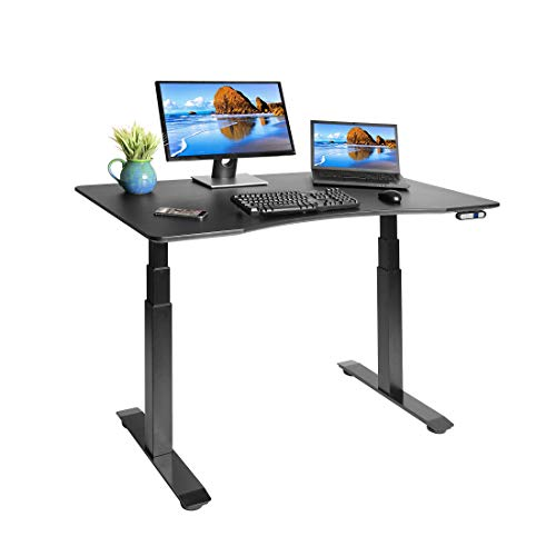 - Seville Classics AIRLIFT S3 Electric Standing Desk with 54
