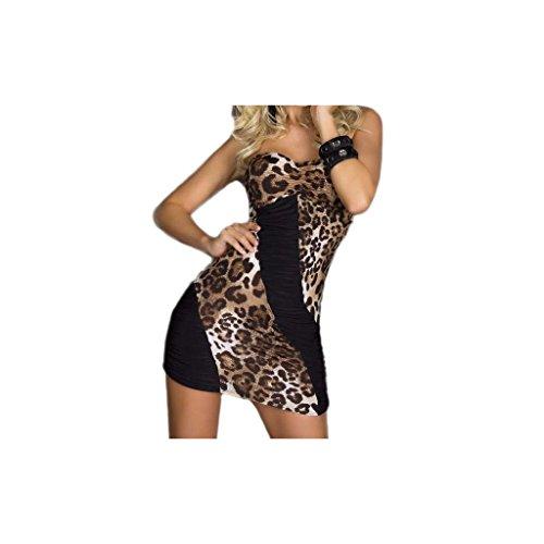 """Waooh - Fashion - Kombinierte trägerlosen Leopard """" Chleo """" - Schwarz"""
