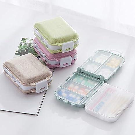 Distributeur de Panier 1 Rose Namgiy Bo/îte /à pilules pour Tablette Organiseur de m/édicaments Trousse /à m/édicaments Pilule Pilule Panier de Rangement Portable de Voyage