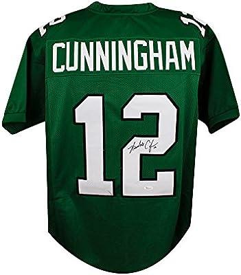 711ae396dcb Randall Cunningham Autographed Eagles Custom Green Football Jersey - JSA COA