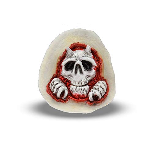 Woochie Kids Peel & Stick - Professional Quality Halloween Costume Accessories - Peeking Skull -