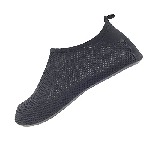 SENFI leichte Quick-Dry Wasser Schuhe für Wassersport Strand Pool Camp (Männer, Frauen, Kinder) D.schwarz