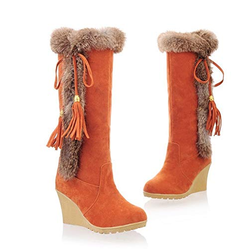 Inverno Inverno Stivali Stivali Stivali Orange Shishang Caldo nel e Pelliccia Autunno Stivali Uno Neve Donna Top Alti Opaca Tubo da qtanOwcwd
